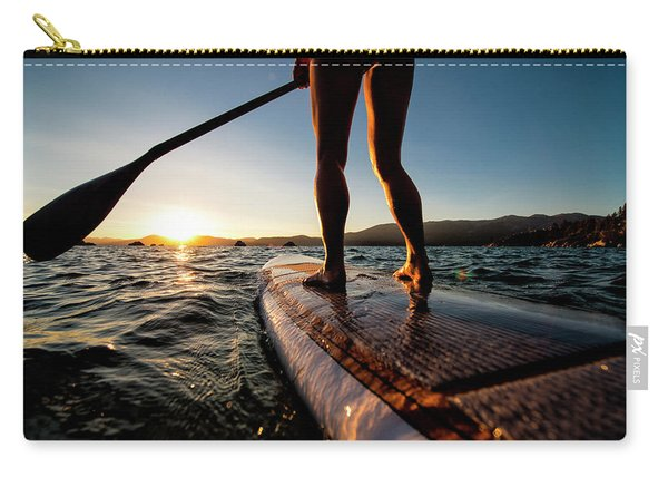 Paddle Boarding In Cali Carry-all Pouch