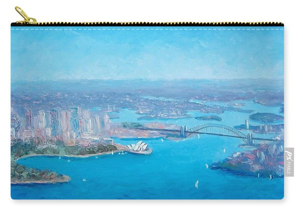 Sydney Harbour And The Opera House Aerial View  Carry-all Pouch