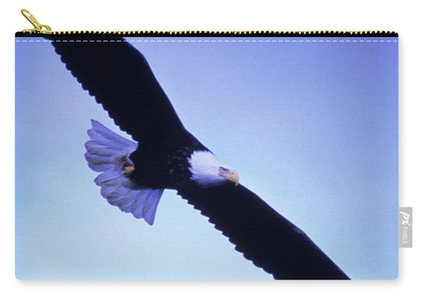 A Bald Eagle Flies Over Alaskas Chilkat Carry-all Pouch