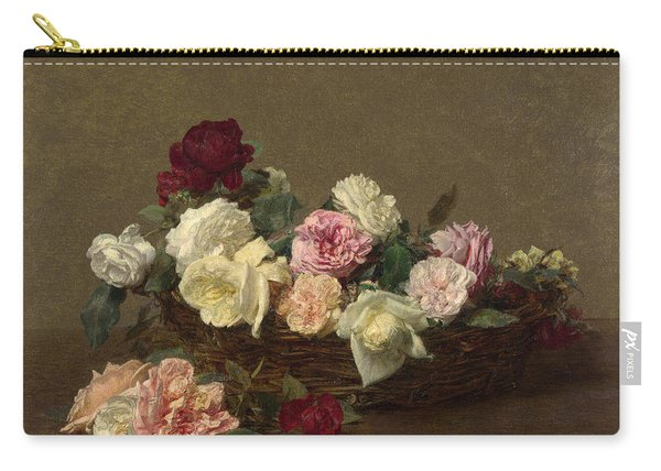 A Basket Of Roses Carry-all Pouch