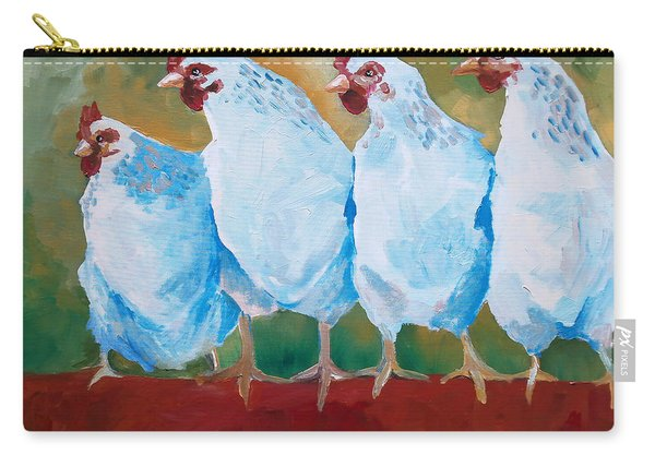 A Bunch Of Old Clucking Hens Carry-all Pouch