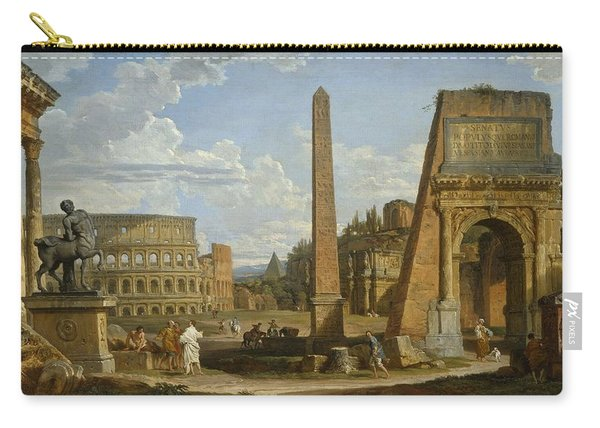 A Capriccio View Of Roman Ruins, 1737 Carry-all Pouch