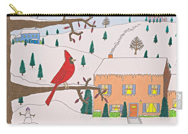 A Cardinal Christmas Carry-all Pouch
