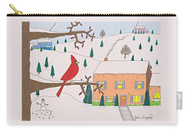A Cardinal Christmas Carry-all Pouch