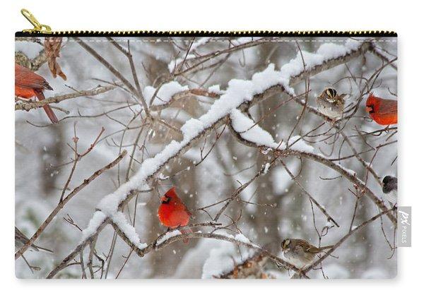 A Cardinal Snow Carry-all Pouch