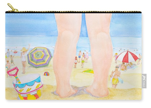 A Child Remembers The Beach Carry-all Pouch