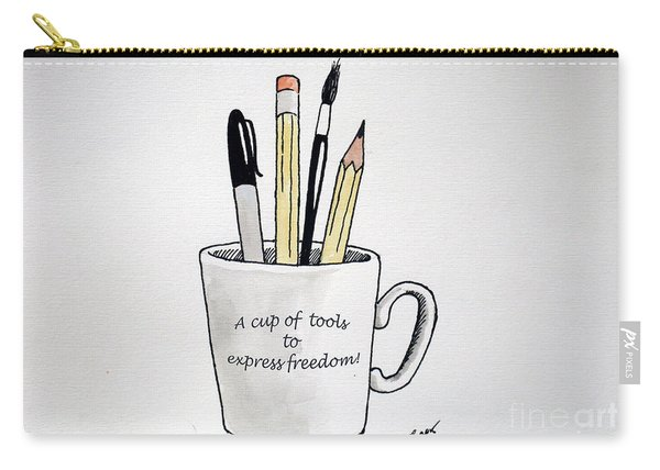 A Cup Of Tools To Express Freedom Carry-all Pouch