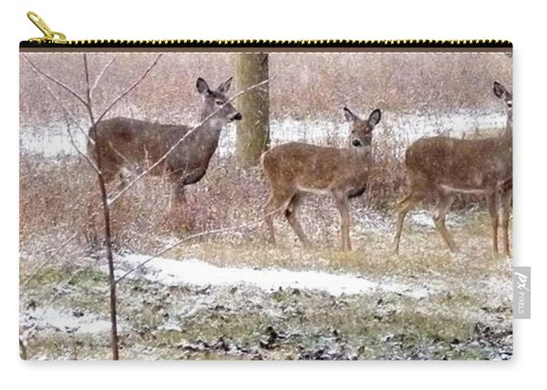 A Dusting On The Deer Carry-all Pouch