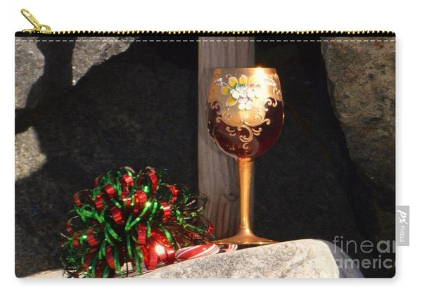 Carry-all Pouch featuring the photograph A Fine Beach Christmas by Laurie Lundquist