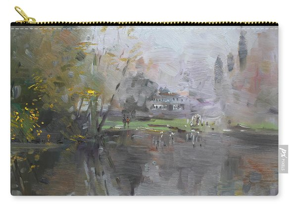 A Foggy Fall Day By The Pond  Carry-all Pouch