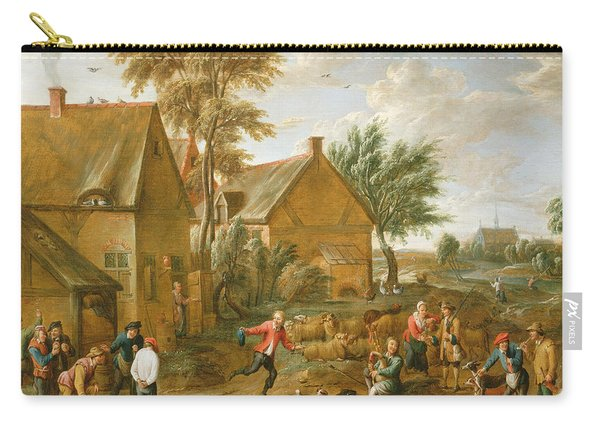 A Game Of Bowls By A Tavern Carry-all Pouch