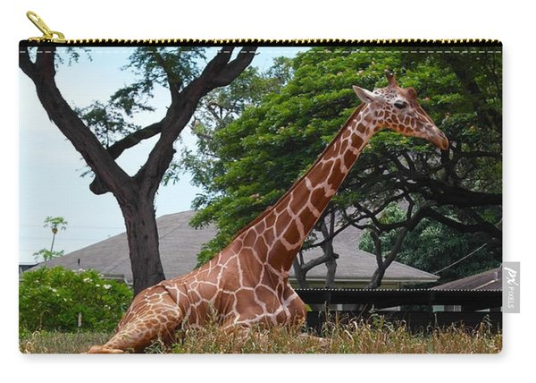 A Giraffe Rests In Honolulu Carry-all Pouch