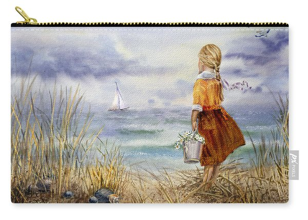 A Girl And The Ocean Carry-all Pouch