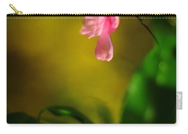 A Golden Day Portrait Of A Pink Camellia Carry-all Pouch