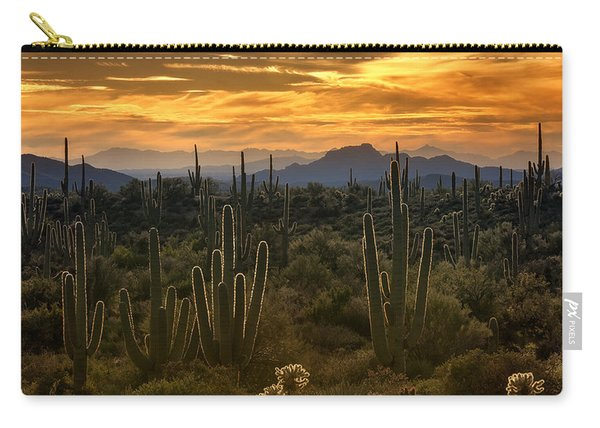 A Golden Sonoran Sunset  Carry-all Pouch
