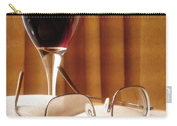 A Good Book And A Glass Of Wine Carry-all Pouch
