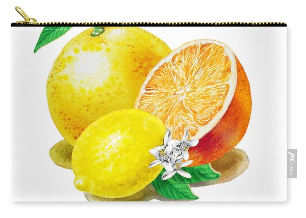 A Happy Citrus Bunch Grapefruit Lemon Orange Carry-all Pouch