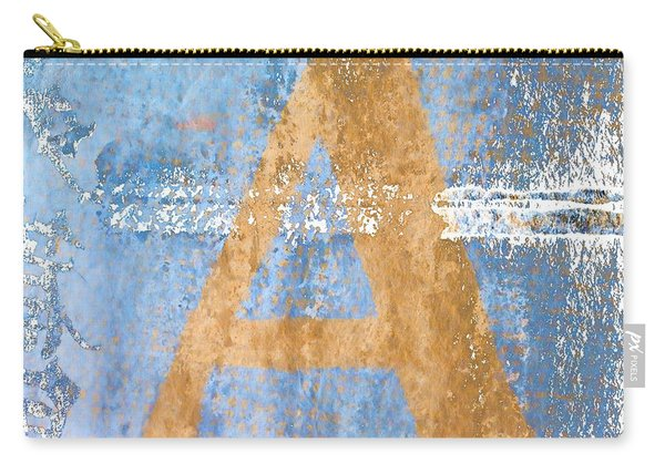 A In Blue Carry-all Pouch