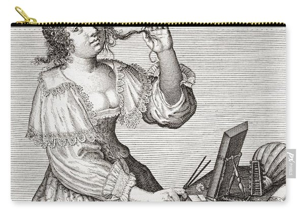 A Lady At Her Toilette, After A 17th Century Engraving By Le Blond.  From Illustrierte Carry-all Pouch