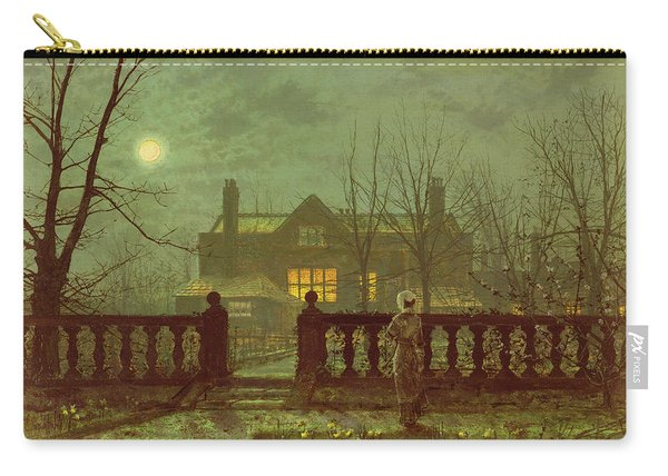 A Lady In A Garden By Moonlight Carry-all Pouch