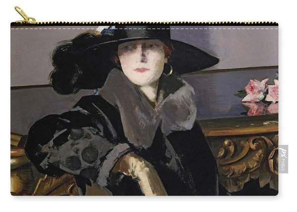 A Lady In Black Carry-all Pouch