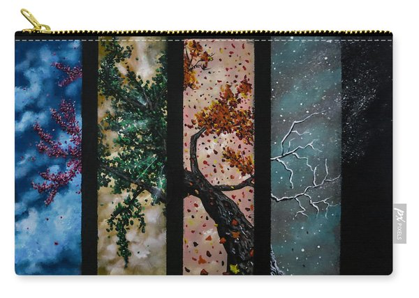 Carry-all Pouch featuring the painting A Life by Joel Tesch