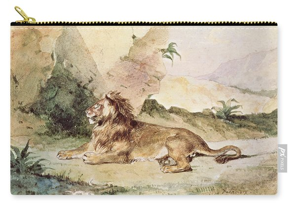 A Lion In The Desert Carry-all Pouch