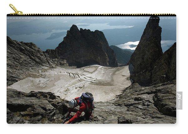 A Male Climber Climbs Mt. Moran Carry-all Pouch