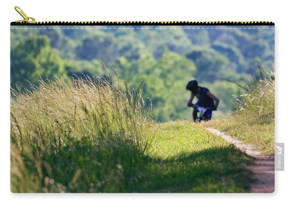 A Mountain Biker Looks Back Carry-all Pouch