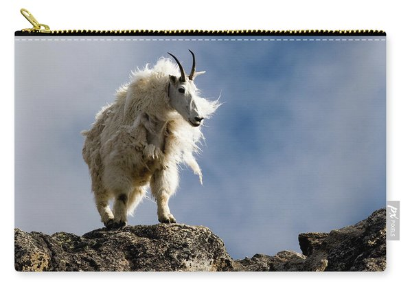A Proud, Shaggy Mountain Goat Oreamnos Carry-all Pouch