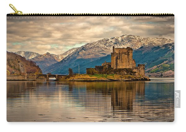 A Reflection At Eilean Donan Castle Carry-all Pouch