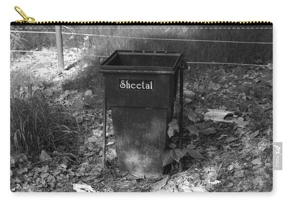 A Rubbish Bin Inside The Delhi Zoo Carry-all Pouch