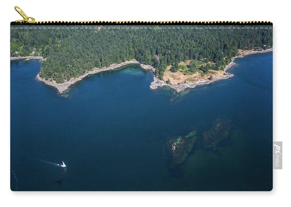 A Sailboat Off The Coast Of Vancouver Carry-all Pouch