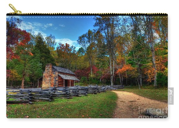 A Smoky Mountain Cabin Carry-all Pouch