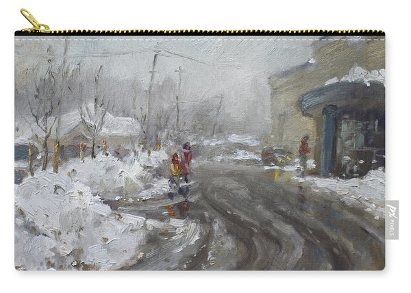 A Snow Day At Mil-pine Plaza Carry-all Pouch