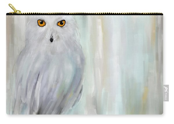 A Snowy Stare Carry-all Pouch