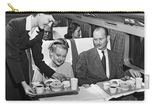 A Stewardess Serving Breakfast Carry-all Pouch