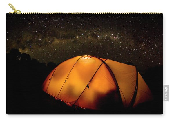 A Tent Illuminates The Night Carry-all Pouch