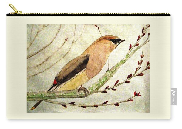 A Waxwing In The Orchard Carry-all Pouch