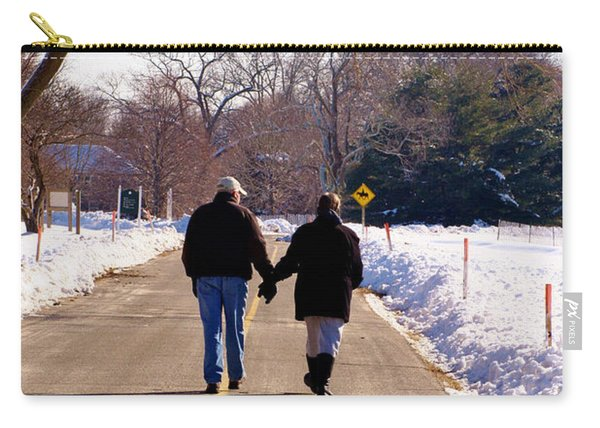 A Winter Walk/inspirational Carry-all Pouch