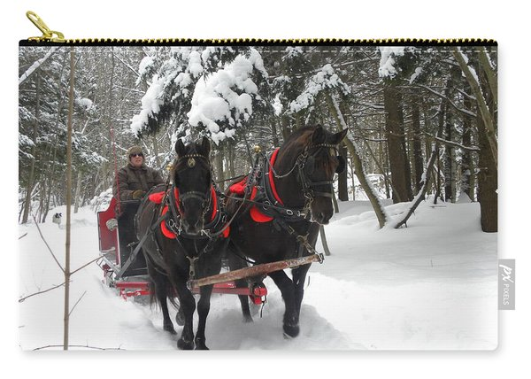 A Wonderful Day For A Sleigh Ride Carry-all Pouch