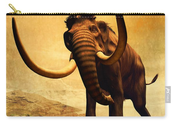A Woolly Mammoth In A Dramatic Frozen Carry-all Pouch