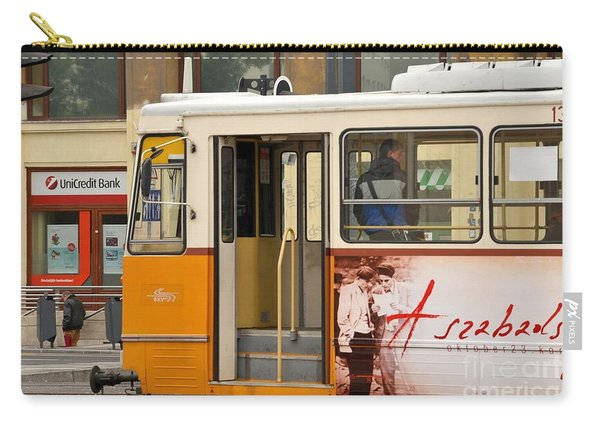 A Yellow Tram On The Streets Of Budapest Hungary Carry-all Pouch