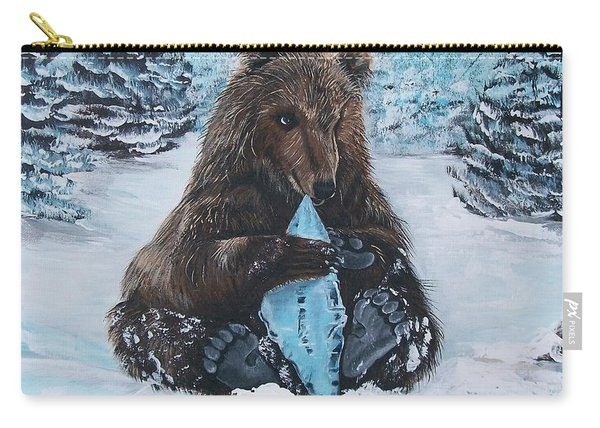 A Young Brown Bear Carry-all Pouch