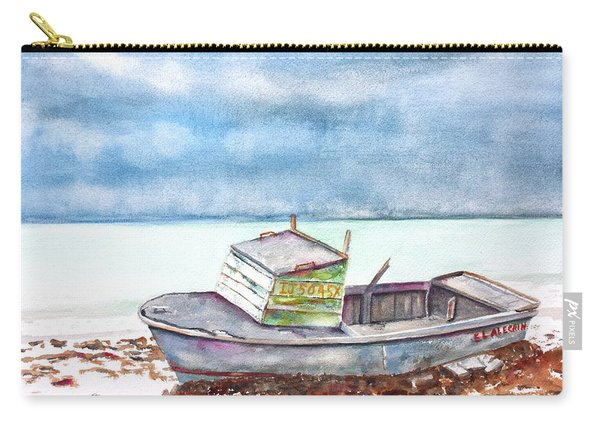Abandoned Beached Wood Boat Carry-all Pouch
