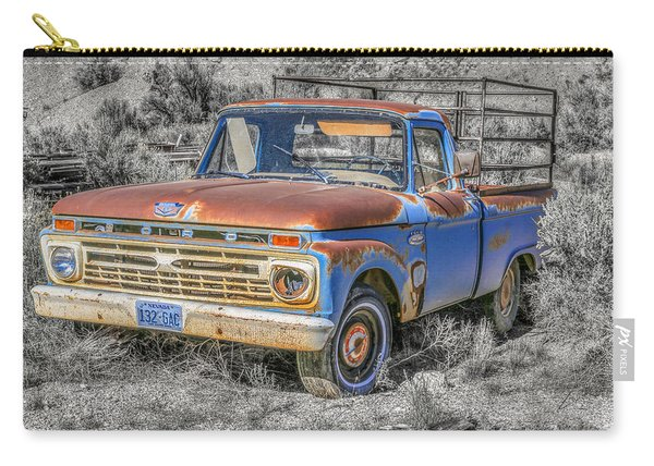Carry-all Pouch featuring the photograph Abandoned Pick Up Truck by Susan Leonard