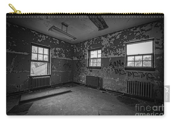 Abandoned Room At Letchworth Bw Carry-all Pouch