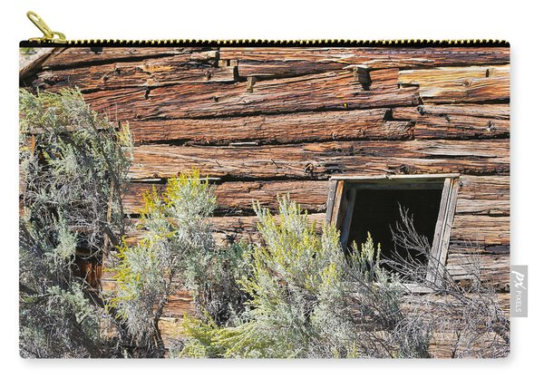 Carry-all Pouch featuring the photograph Abandoned Shack by Susan Leonard