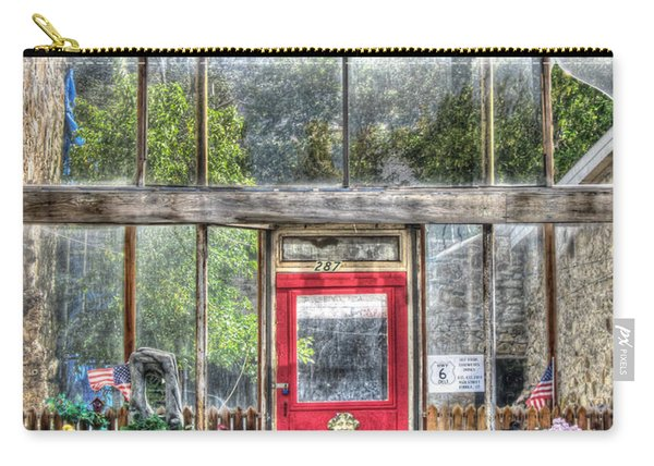 Carry-all Pouch featuring the photograph Abandoned Shop by Susan Leonard