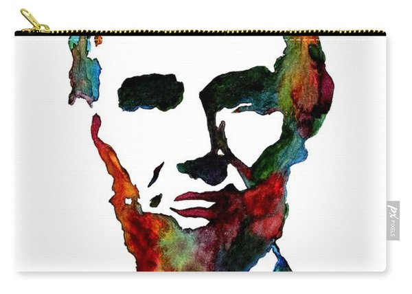 Abraham Lincoln Original Watercolor  Carry-all Pouch
